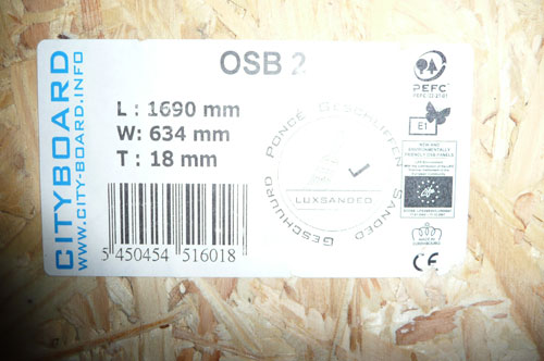 Planches OSB