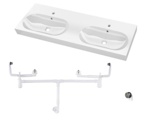 Lavabo double vasque IKEA Braviken